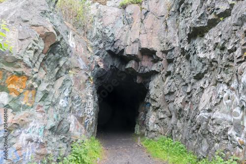 entrance to the tunnel barracks in Medvezhegorsk Wallpaper Mural