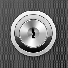 Modern Keyhole - Door Lock Icon, Flat Key Hole, Bank Cell Access Concept