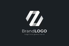 Abstract Hexagon Letter Z Business Logo. Flat Vector Logo Design Template Element