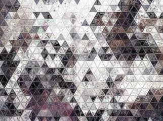 Fototapeta Na meble Vintage style old fashion colors triangle mosaic background.