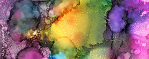 Art Abstract paint blots background. Alcohol ink black colors. Marble texture.