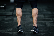 Trained Legs With Muscular Cal...
