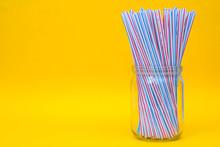 Plastic Straws In A Glass Jar ...