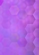 Leinwanddruck Bild - Shiny smooth metallic surface background with hexagonal pattern shapes.