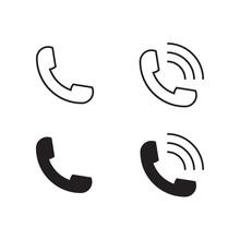 Telephone Receiver Vector Icon. Phone Icon.
