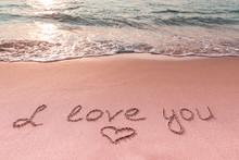 Valentine's Day On The Beach. ...
