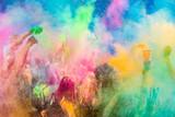 Fototapeta Tęcza - Festiwal Kolorów Holi. Indyjskie święto z kolorowym pudrem, Polska