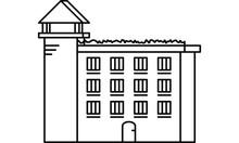 Illustration Icon Symbol Of A Prison