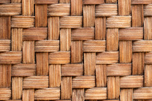 Closed Up Of Wood Weave Craft ...