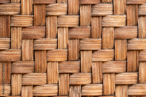 Canvastavla Closed up of wood weave craft textured background