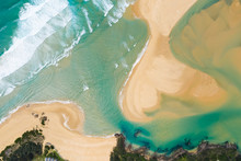 Aerial View Over Beach At Wall...