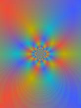 Colorful Fractal Art Background Illustration.