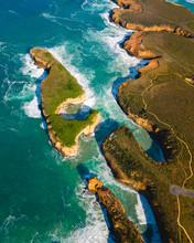 Aerial View Of Great Ocean Roa...