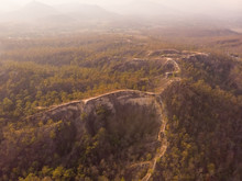 Aerial View Of Pai Canyon During Autumn In Thailand.