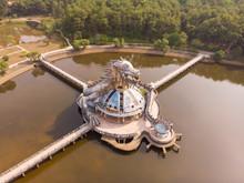 Aerial View Of Hue Abandoned Water Park In Vietnam.