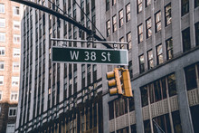 Street Sign In New York City