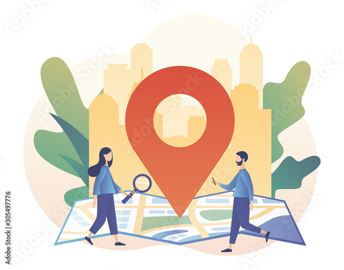 GPS navigation concept Obraz na płótnie