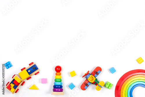 Fotografia Baby kids toys background