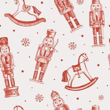 Seamless Pattern With Soldiers...
