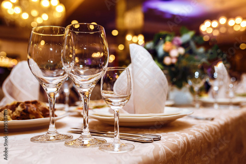 Serving wedding table Wallpaper Mural