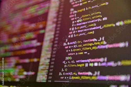Fotomural Background of software developer script
