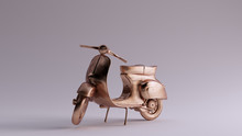 Bronze Moped 3 Quarter Left Vi...