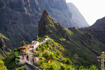 Mountains around famous Masca village on Tenerife