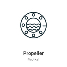 Propeller Outline Vector Icon....
