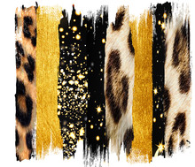 Black And  Gold Brush, Strokes...