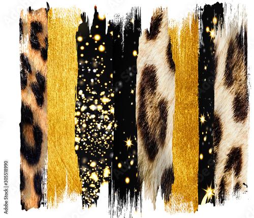 Black and  gold Brush, Strokes, jpg, sublimation, shirt, clip art, Wall mural