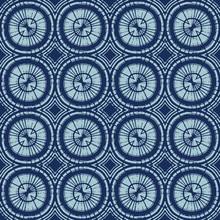 Dyed Indigo Blue Batik Circle ...