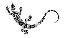 Lizard Maori Style. Tattoo Ske...