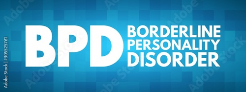 Obraz na plátně BPD - Borderline Personality Disorder acronym, medical concept background
