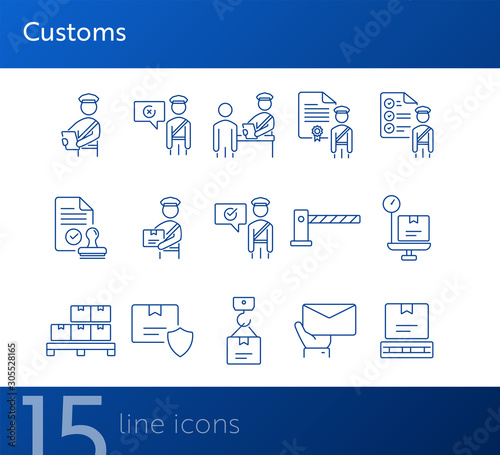 Pinturas sobre lienzo  Customs icons