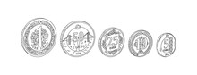 Turkish Coin Vector Illustrati...