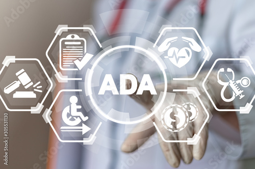 Photo ADA Americans with Disabilities Act Medical Concept