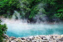 Beautiful Scenery Of Hot Spring In The Forest In Beitou District, Taiwan