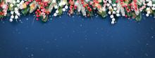 Christmas Banner With Fir Bran...