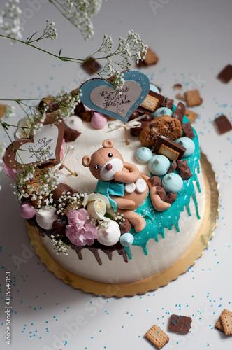 Fototapeta Misiowy tort obraz