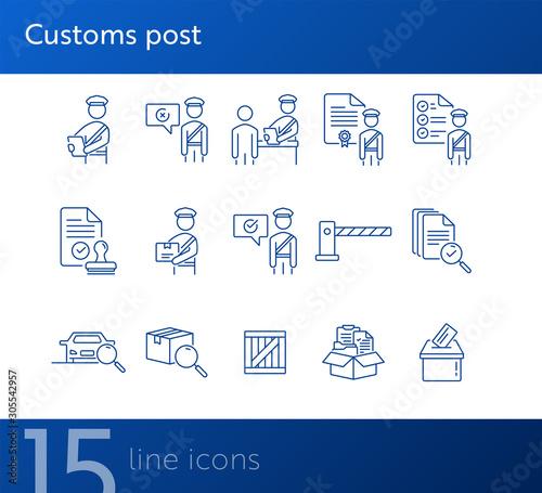 Fotografía  Customs post icons