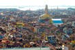 aerial panoramic view of the venice houses from the campanile di san marco, Venice, Italy