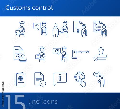 Pinturas sobre lienzo  Customs control icons