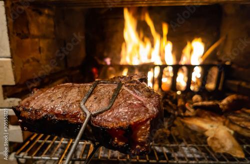 Canvastavla bistecca alla brace