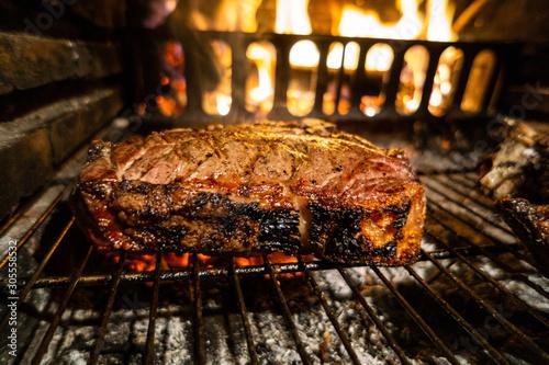 Photo Bistecca alla fiorentina nel barbecue