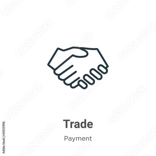 Valokuvatapetti Trade outline vector icon