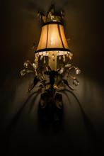 Vintage Lampshade In Hallway