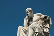 Leinwanddruck Bild - Statue of the ancient Greek philosopher Socrates in Athens, Greece.
