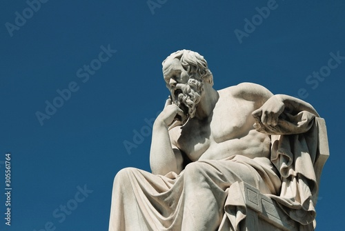 Statue of the ancient Greek philosopher Socrates in Athens, Greece Wallpaper Mural