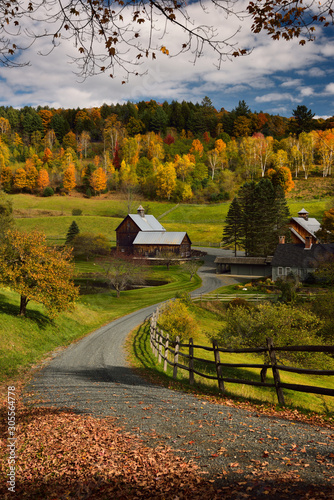 Fotografía  Driveway to Sleepy Hollow Farm on Cloudland Road Woodstock Vermont in the Fall