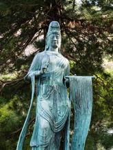 Bronze Japanese Statue Of Kann...